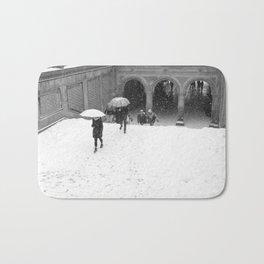Winter Walk in New York Bath Mat