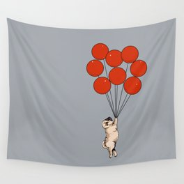 I Believe I Can Fly Pug Wall Tapestry