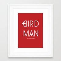 birdman Framed Art Prints featuring Birdman by Cardula