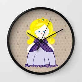 Blonde Princess Wall Clock