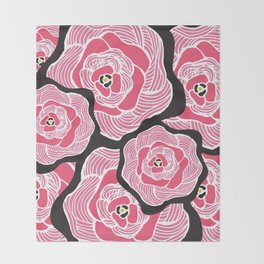 Signature Pink and Black Throw Blanket