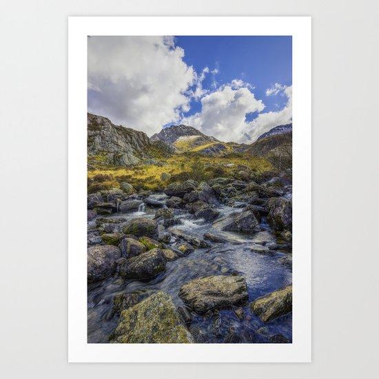 Tryfan Stream Art Print