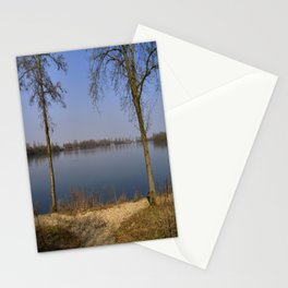 looking to the Lake in Laupheim Stationery Cards