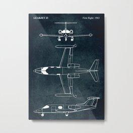 LEARJET 23 - First flight 1963 Metal Print