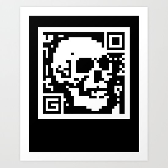 QR- Dead Art Print