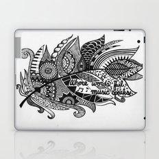 Zentangle Feather Laptop & iPad Skin