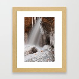 Stream of Frozen Hope Framed Art Print