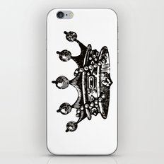 Royal Crown | Black and White iPhone & iPod Skin