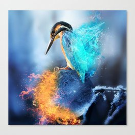 Kingfisher Ice and Fire by GEN Z Canvas Print