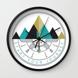 Start Your Journey Badge Wall Clock