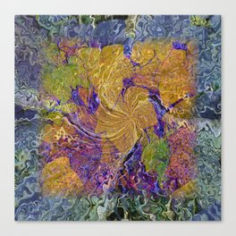 THIMBLE BERRY MADRONA ABSTRACT Canvas Print
