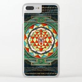 Maha Lakshmi (Laxmi) Mantra & Shri Yantra - Wealth Giving Clear iPhone Case