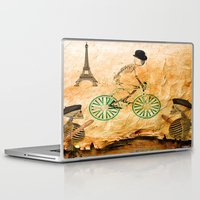 "tour de france Laptop & iPad Skins featuring Monsieur Bone and "" le  Tour de France "" by Ganech joe"