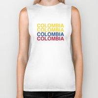 colombia Biker Tanks featuring COLOMBIA by eyesblau