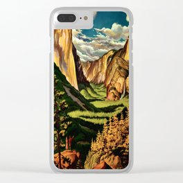 Yosemite National Park - Vintage Travel Clear iPhone Case