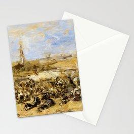 12,000pixel-500dpi - Eugene Louis Boudin - Pardon Of Ste-anne-la-palud - Digital Remastered Edition Stationery Cards