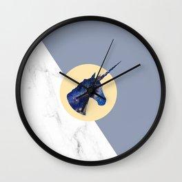 Unicorn in Starry Night Wall Clock