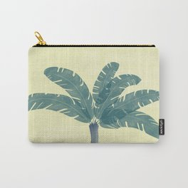 Banana Plant Blue Carry-All Pouch