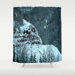 The Road Curves Upward Shower Curtain