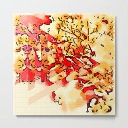gypsophila abstract Metal Print