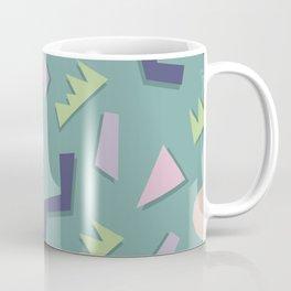 80's Pattern in Teal Coffee Mug