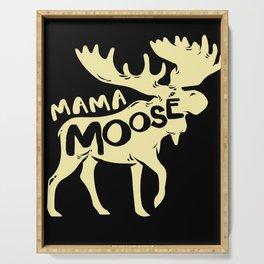 Moose Mama Mother Mom Deer Reindeer Elk Stag Serving Tray