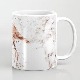 Rose gold marble - flamingo Coffee Mug