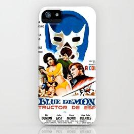 Blue Demon destructor de espias, 1968 (Vintage Movie Poster) iPhone Case