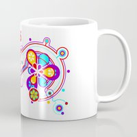 psychedelic Mugs featuring Psychedelic by tuditees