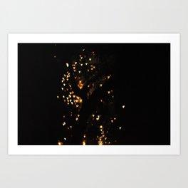 Diwali love Art Print