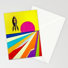 Retro Space Stationery Cards