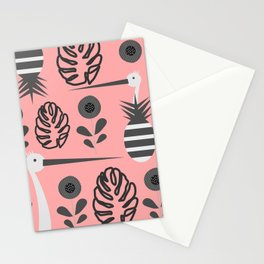 Stork and pineapples Stationery Cards