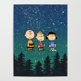 snoopy forest Poster