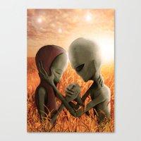 aliens Canvas Prints featuring Aliens by danielabbart