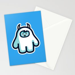 Kawaii Cute Abominable Snowman Yeti Stationery Cards
