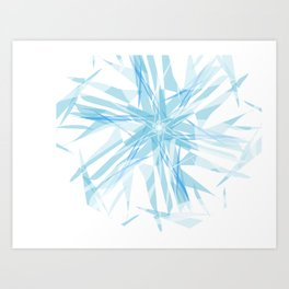 Ice on water Art Print