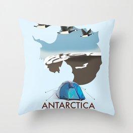Antarctica - For Adventure! Throw Pillow