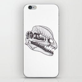 Dilophosaurus skull iPhone Skin