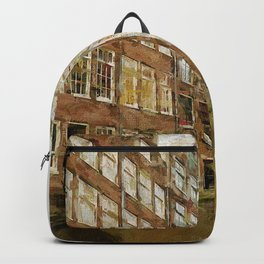 Canal Houses Amsterdam painted Backpack