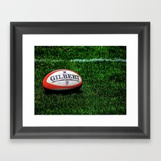 Rugby Time Framed Art Print