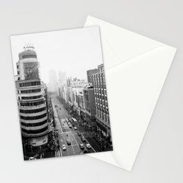 Gran Via in Madrid Stationery Cards