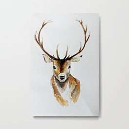 Buck - Watercolor Metal Print