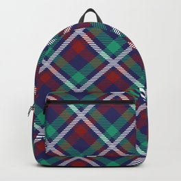 Tartan Seamless Pattern - A funny gift for someone who loves Outlander,  Scotland, Scottish Clan Tartan and Celtic music Backpack