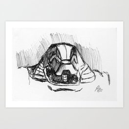 Warbot Sketch #048 Art Print