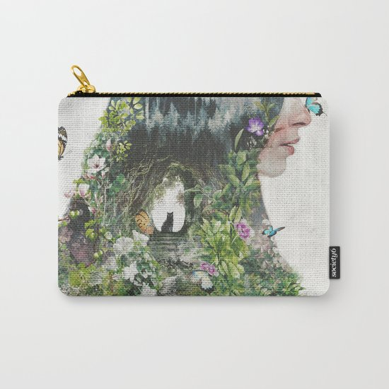 Cat in the Garden of Your Mind Carry-All Pouch