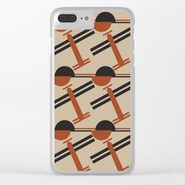 soviet pattern - constructivism Clear iPhone Case