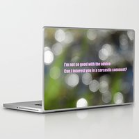 sarcasm Laptop & iPad Skins featuring Bokeh Sarcasm by Casey J. Newman