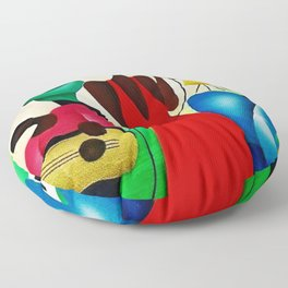 African American Masterpiece 'Bourbon Street New Orleans Jazz' by Fred Blassingham Floor Pillow