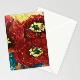 Three Poppies by Lena Owens @OLena Art #Society6 Stationery Cards