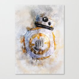 BB8! my little droid from wars star Canvas Print